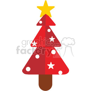 red christmas tree vector flat design clipart. Commercial use image # 400524