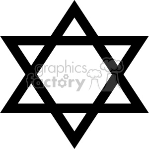 Jewish Star of David flat vector art clipart. Royalty-free image # 400584