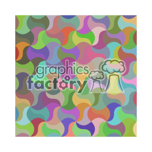 vector color pattern design 137 clipart. Royalty-free image # 401742