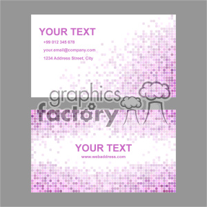 vector business card template set 021 clipart. Commercial use image # 401932