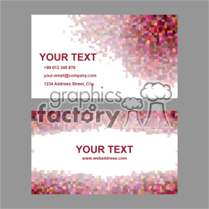 vector business card template set 030 clipart. Commercial use image # 401937