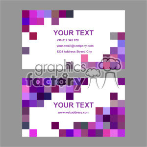 vector business card template set 040 clipart. Royalty-free image # 401952