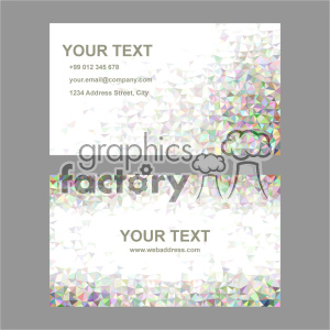 vector business card template set 025 clipart. Royalty-free image # 401967