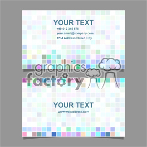 vector business card template set 058 clipart. Royalty-free image # 401972