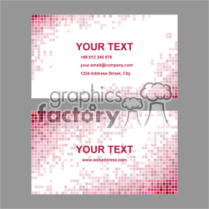 vector business card template set 036 clipart. Royalty-free image # 401982