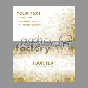 vector business card template set 007 clipart. Commercial use image # 401992