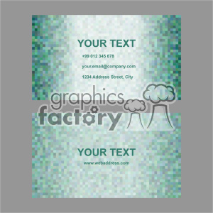 vector business card template set 032 clipart. Commercial use image # 402002