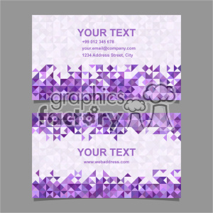 vector business card template set 064 clipart. Royalty-free image # 402027