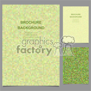 vector letter brochure template set 003 clipart. Royalty-free image # 402132