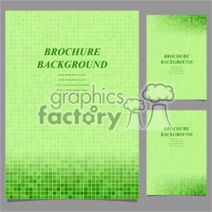 vector letter brochure template set 049 clipart. Commercial use image # 402162