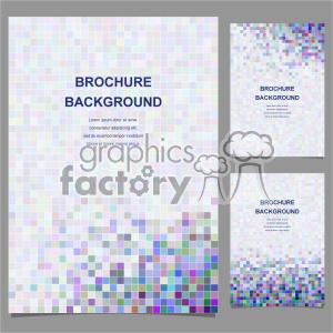 clipart - vector letter brochure template set 017.