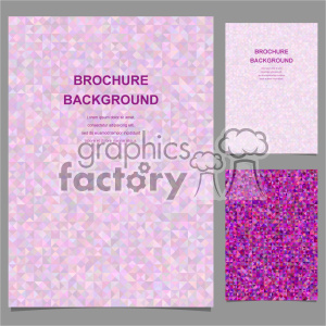 vector letter brochure template set 009 clipart. Commercial use image # 402207