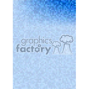 blue gradient pixel pattern vector brochure letterhead top background template clipart. Royalty-free image # 402217