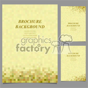 vector letter brochure template set 046 clipart. Royalty-free image # 402222