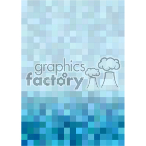 shades of blue pixel pattern vector brochure letterhead bottom background template clipart. Royalty-free image # 402242