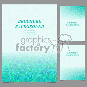 vector letter brochure template set 035 clipart. Royalty-free image # 402262