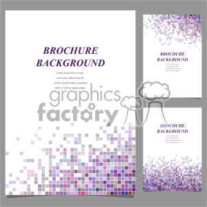 vector letter brochure template set 023 clipart. Commercial use image # 402272