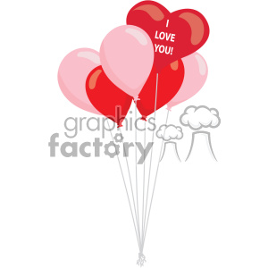 heart balloons svg cut files vector valentines die cuts clip art clipart. Royalty-free image # 402303