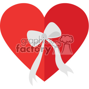 heart with a bow svg cut files vector valentines die cuts clip art clipart. Royalty-free image # 402313