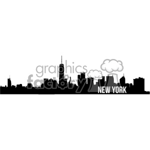 new york city skyline vector art fill clipart. Commercial use image # 402333