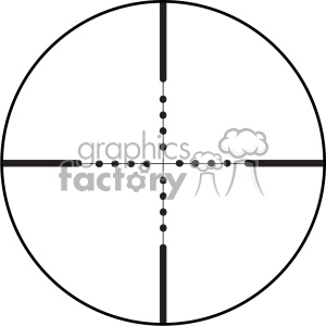 vector reticle aim sight mil dot image clipart. Royalty-free image # 402371