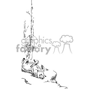 lazy bear vintage 1900 vector art GF clipart. Commercial use image # 402441