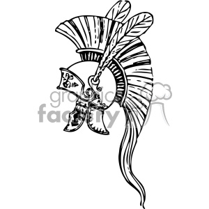 Greek helmet trojan vintage 1900 vector art GF clipart. Royalty-free image # 402471