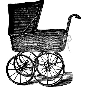 vintage child carriage vector vintage 1900 vector art GF clipart. Commercial use image # 402531