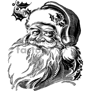 vintage retro old black+white santa christmas santa+claus tattoo