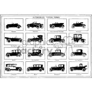 vintage distressed automobiles vector design vintage 1900 vector art GF clipart. Royalty-free image # 402586