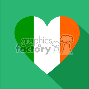 irish heart with stripes like the flag flat vector design GF clipart. Commercial use image # 402596