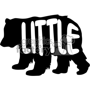 little bear stencil vector svg cut files clipart. Royalty-free image # 402616