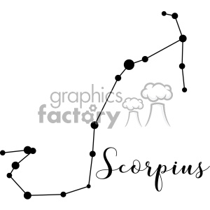 Constellations Scorpius Sco the Scorpion Scorpii vector art GF clipart. Royalty-free image # 402638