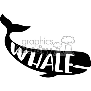 whale typography vector svg cut file dxf die cuts clip art clipart. Royalty-free image # 402648