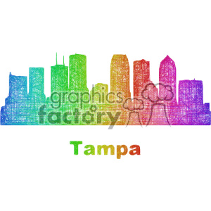 city skyline vector clipart USA Tampa clipart. Commercial use image # 402691