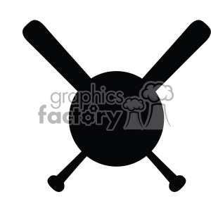 baseball bat monogram symbol svg cut file vector