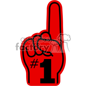 number one imprinted foam hand vector cut file clipart. Commercial use image # 403063