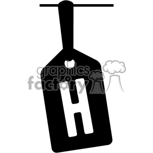 h font vector svg cut file clipart. Commercial use image # 403073