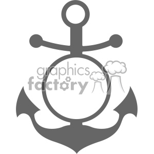 anchor with monogram space svg cut file