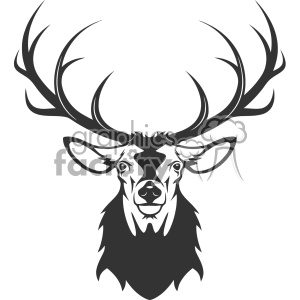 deer head vector art clipart. Royalty-free image # 403163