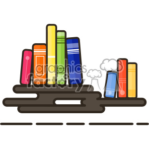 Books flat vector icon design