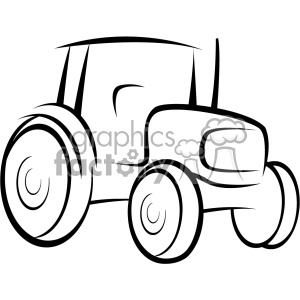 tractor vector outline clipart. Royalty-free image # 403223