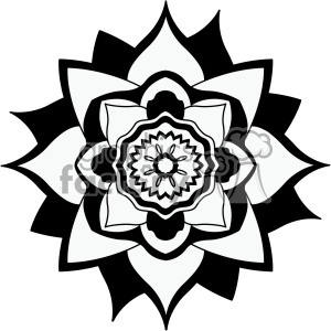 mandala geometric vector design 012 clipart. Royalty-free image # 403244
