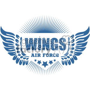 air force wings vector logo template