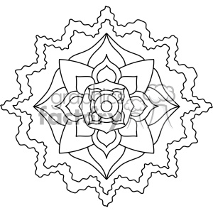 mandala geometric vector design 007 clipart. Royalty-free image # 403274