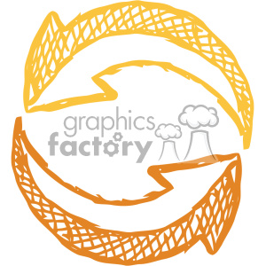 sketched recycle arrow vector art clipart. Royalty-free image # 403284