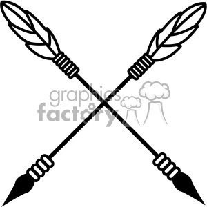arrows crossed vector design 01 clipart. Royalty-free icon # 403294