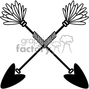 arrows crossed vector design 05 clipart. Commercial use image # 403304