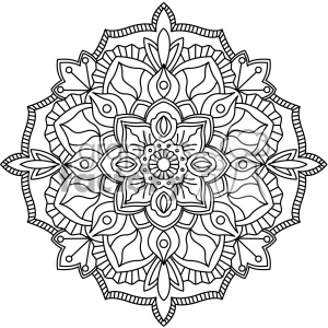 mandala geometric vector design 004 clipart. Royalty-free image # 403314