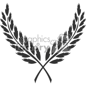 branch wreath design vector art v1 clipart. Commercial use image # 403334